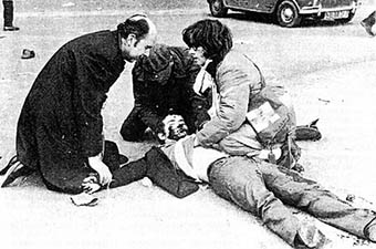 Bloody SundaY in occupied Ireland when the British Army cold-bloodedly shot over a dozen unarmed protestors