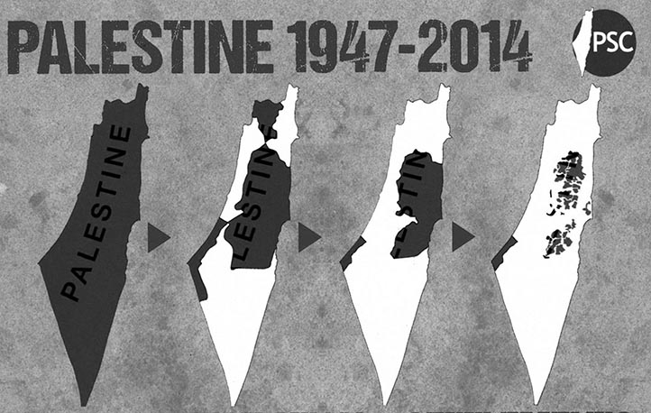 Palestine gradually taken over