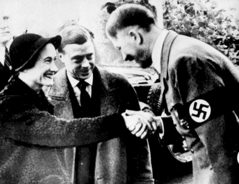 Duke of Windsor (Edqard Viiith) meets with Hiller - the British ruiling class considered trying to use Nazism pre-WW2