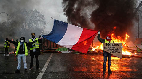 Yellow-vest revolt in France